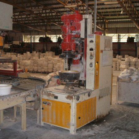 DORST Model SRH V1 Universal roller machine, complete with mould take off device and automatic ware dryer.