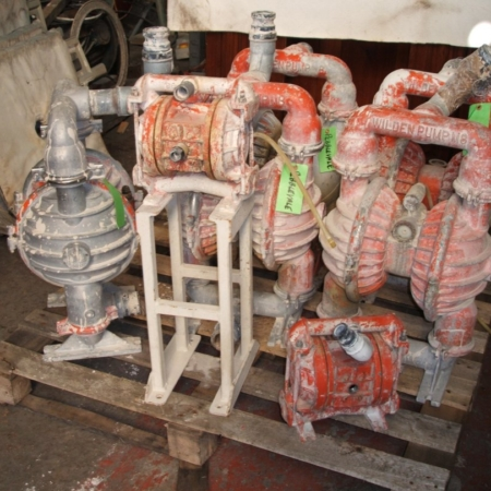 """4 x WILDEN Model M8 2"""" air pumps 2 x WILDEN Model M2 1"""" air pumps"""