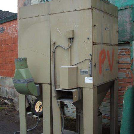 Two DCE Model UMA 253/G8 dust collectors complete with 7.5 Hp motors and acoustic hoods.