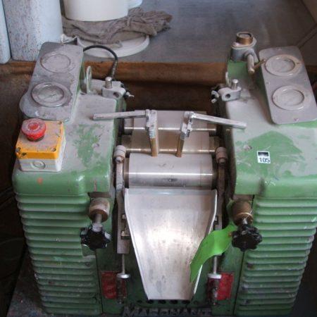 One MARCHANT Triple Roll Mill 150 mm long x 75 mm diameter