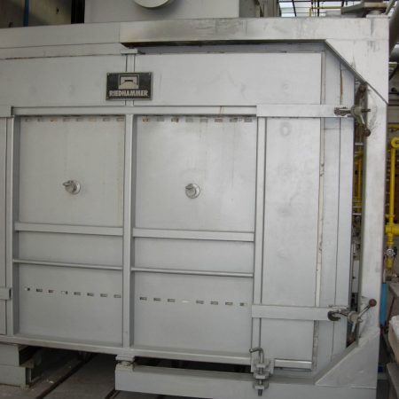 RIEDHAMMER 12.8 CuM gas fired kiln, 1450 oC complete with 20+ kiln cars. New in 1991