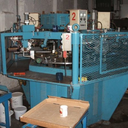Malkin Model 375 five colour screen printing machine suitable for glass and ceramic hollowware