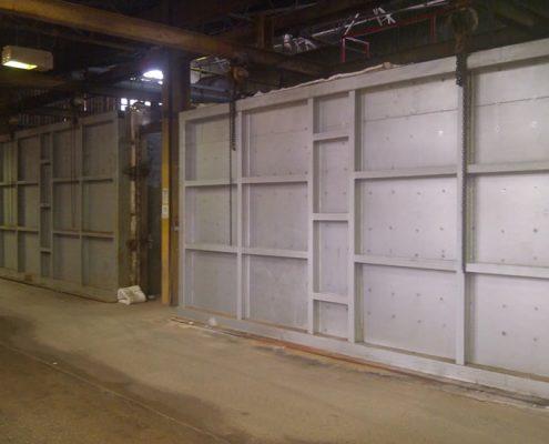 KILN CONSTRUCTION - Two NEW 225 M3 intermittent gas fired Brick kilns, fibre lined, fixed hearth.